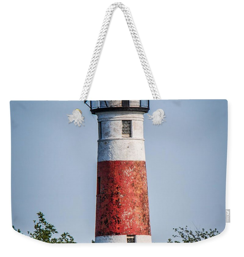 Middle Island Weekender Tote Bag featuring the photograph Middle Island Lighthouse by Grace Grogan