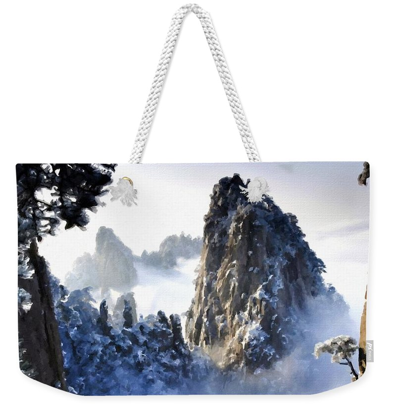 Painting Weekender Tote Bag featuring the digital art Native Landscape by Usa Map