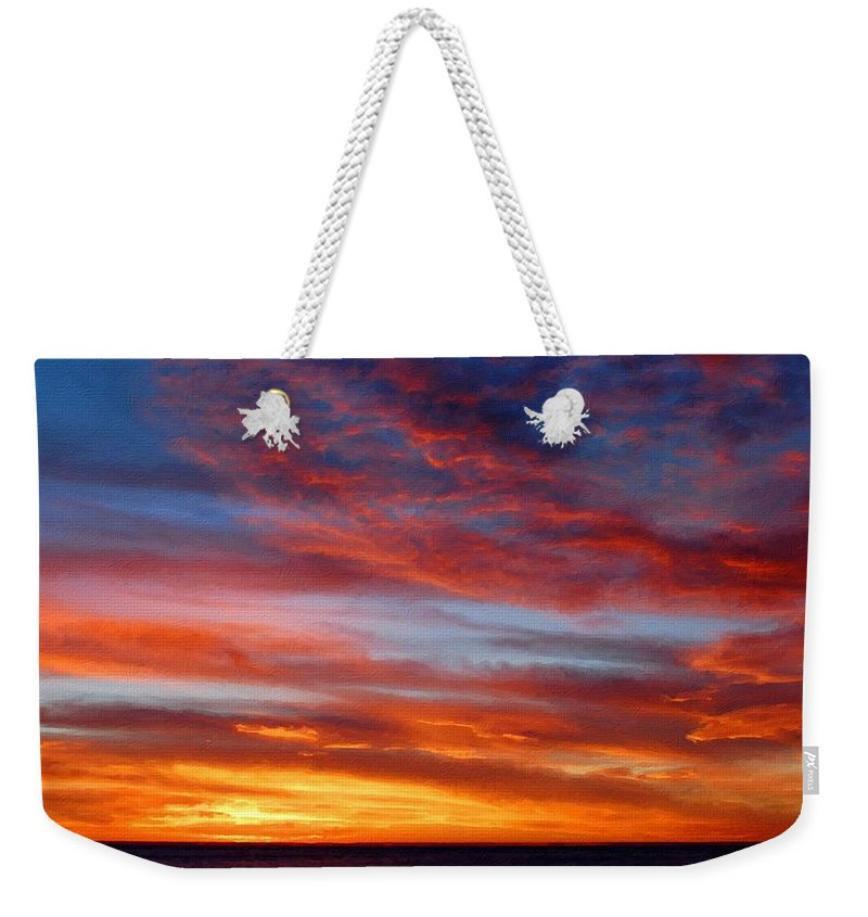 Great Weekender Tote Bag featuring the digital art Nature On by Usa Map