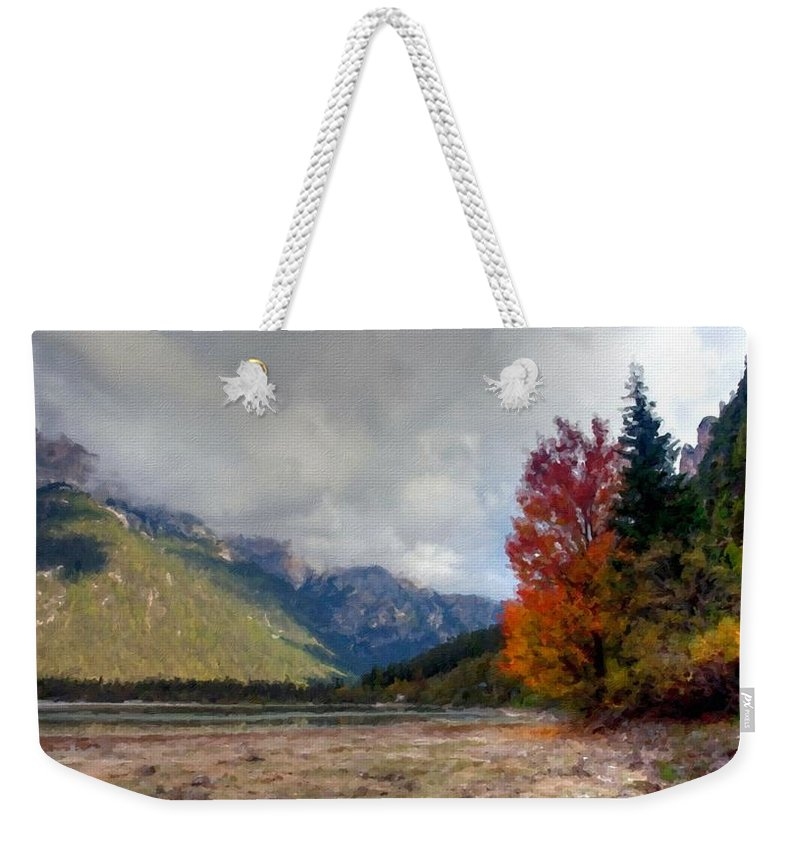 B Weekender Tote Bag featuring the digital art New Landscape by Usa Map