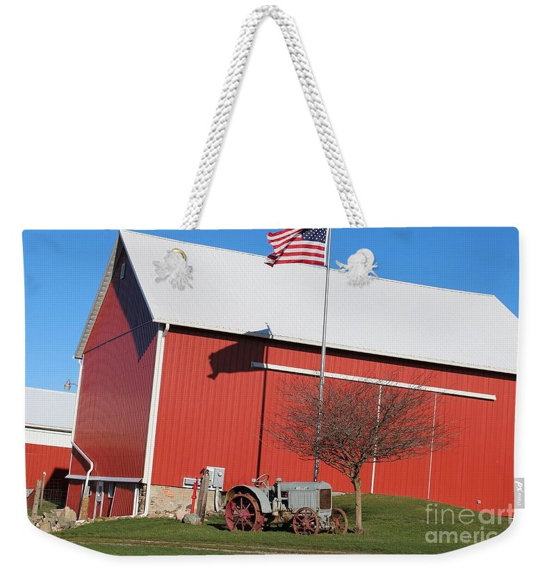 Weekender Tote Bag featuring the photograph Old Barn by Patty Robbins