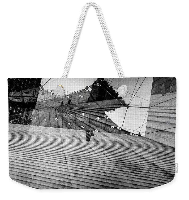 Architecture Weekender Tote Bag featuring the pyrography Paris La Defence. by Cyril Jayant