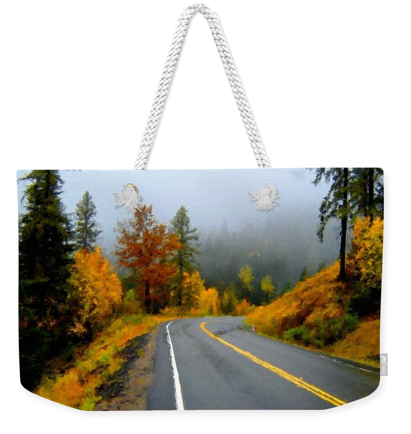 Landscape Weekender Tote Bag featuring the digital art Poster Landscape by Usa Map