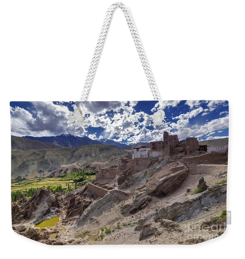 Ladakh Weekender Tote Bag featuring the photograph Ruins At Basgo Monastery Leh Ladakh Jammu And Kashmir India by Rudra Narayan Mitra
