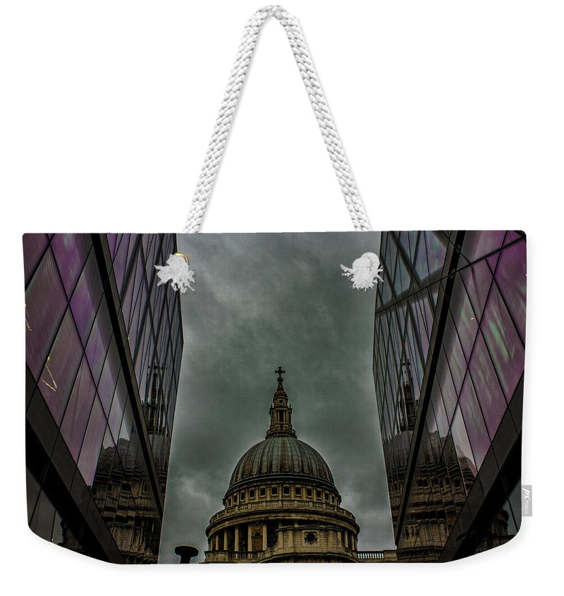 Landscape Weekender Tote Bag featuring the photograph St Paul's Cathedral by Martin Newman
