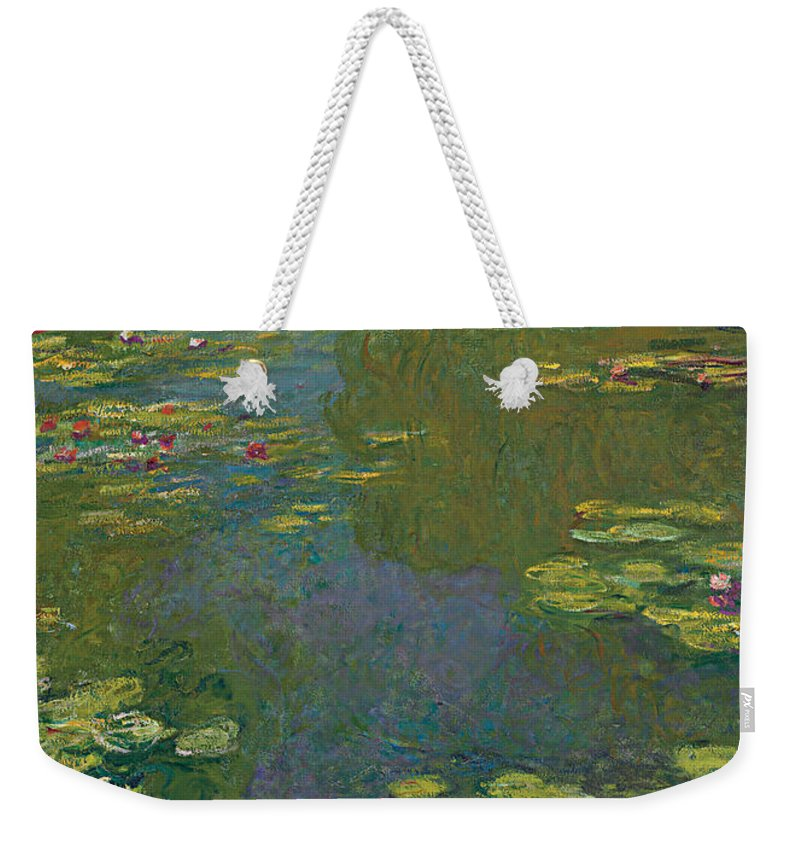 Monet Weekender Tote Bag featuring the painting The Waterlily Pond by Claude Monet