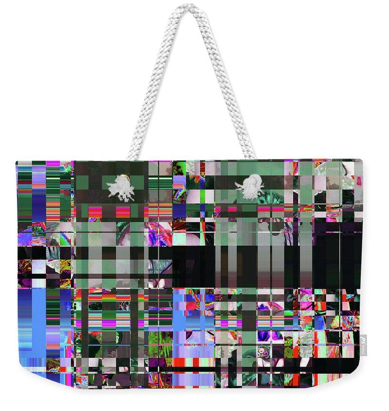 Abstract Weekender Tote Bag featuring the digital art 4 U 343 by John Saunders