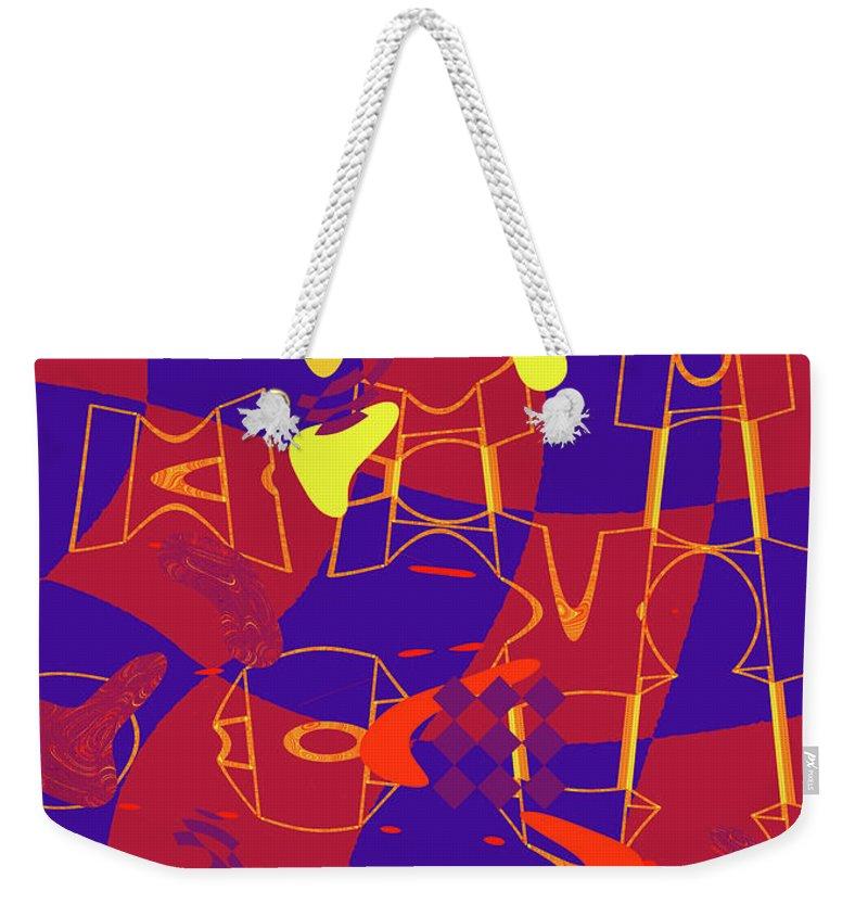 Abstract Weekender Tote Bag featuring the digital art 4 U 367 by John Saunders