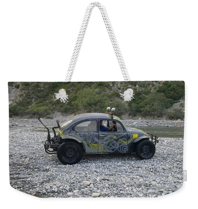 Volkswagen Weekender Tote Bag featuring the photograph Volkswagen by Mariel Mcmeeking