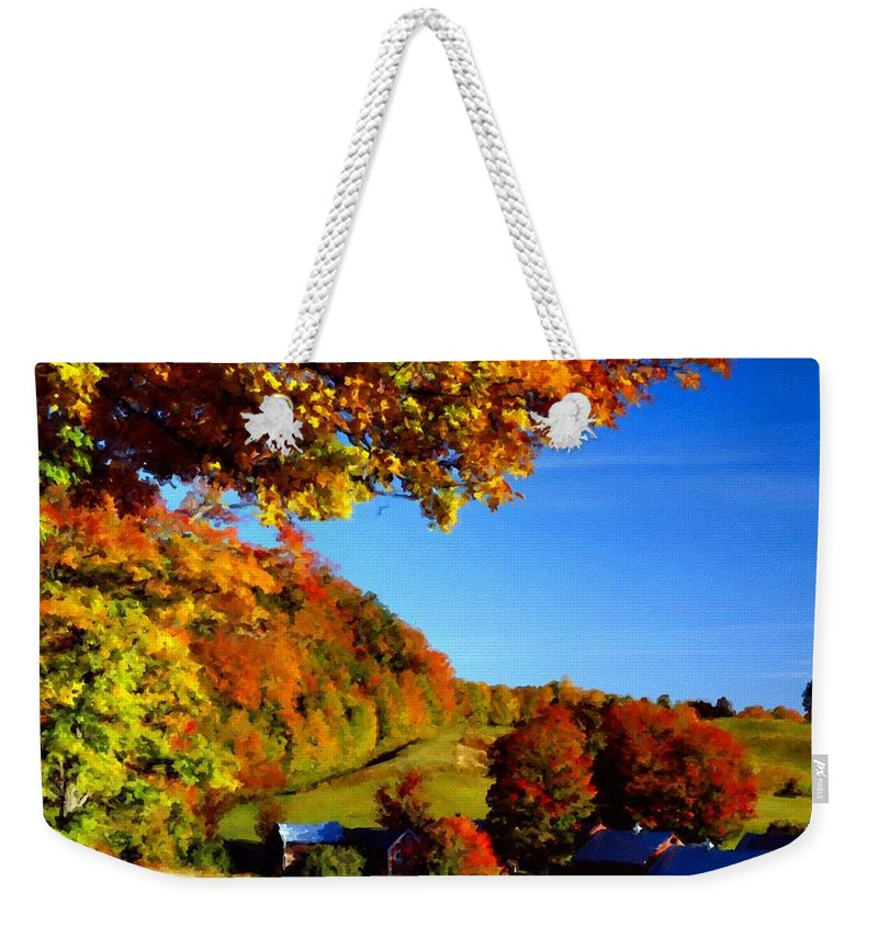 Landscape Weekender Tote Bag featuring the digital art W H Landscape by Usa Map