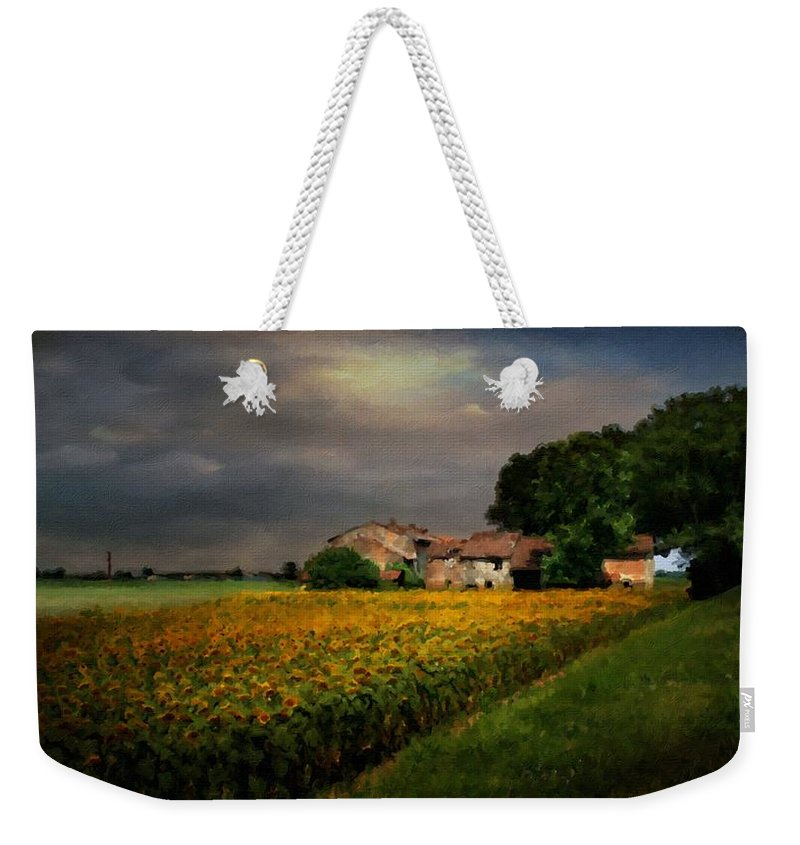 Landscape Weekender Tote Bag featuring the digital art Walls Landscape by Usa Map