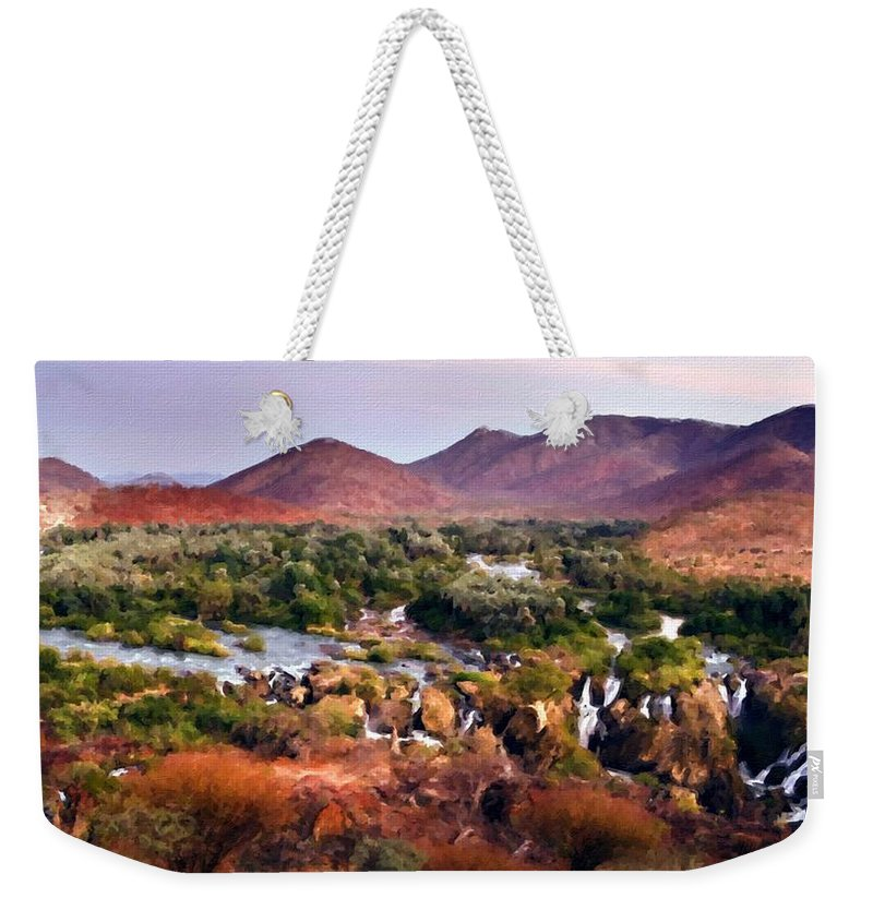 B Weekender Tote Bag featuring the digital art Landscape D Cc by Usa Map