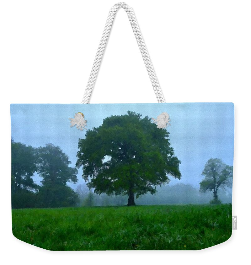 Nature Weekender Tote Bag featuring the digital art Work Landscape by Usa Map