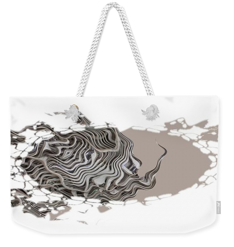 Abstract Weekender Tote Bag featuring the digital art 401k by Ron Bissett