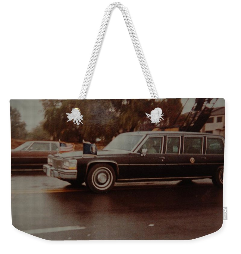 Potus Weekender Tote Bag featuring the photograph 40th In Valley Stream New York by Rob Hans