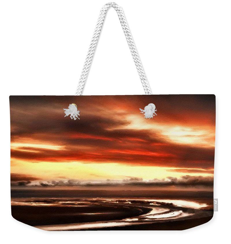 Art Weekender Tote Bag featuring the digital art Country Landscapes by Usa Map