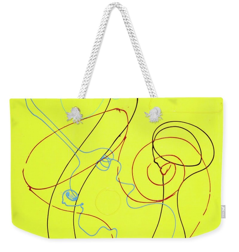 Weekender Tote Bag featuring the painting 41 by Ferboligali