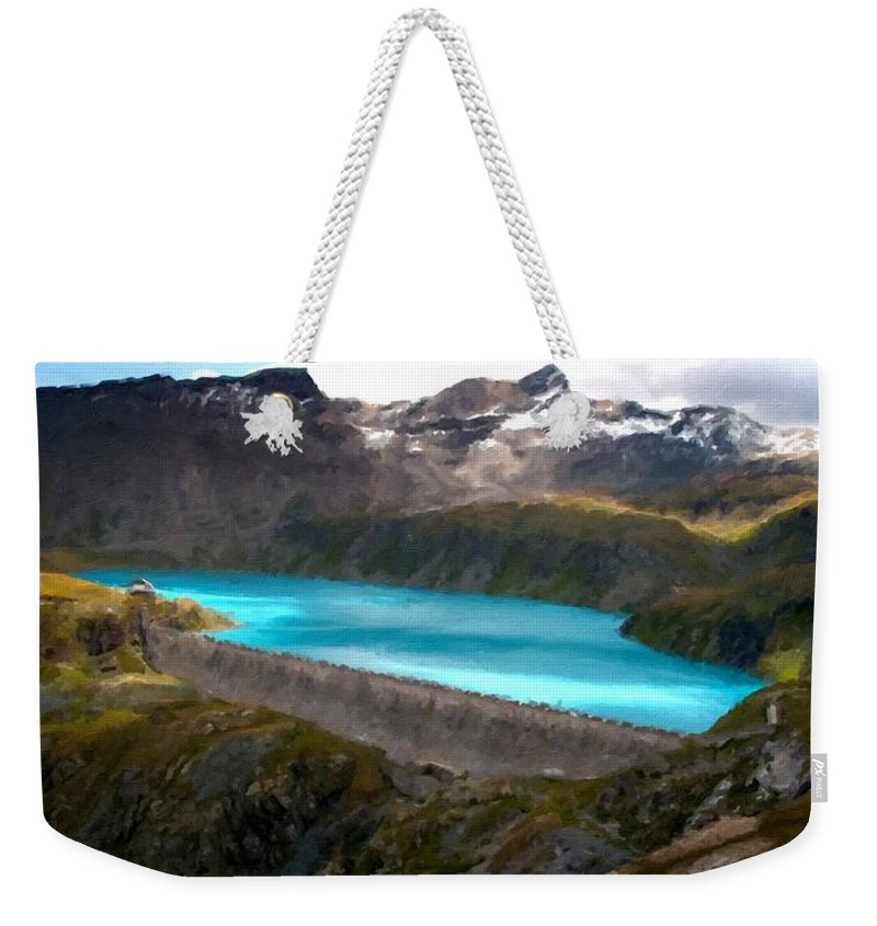 Landscape Weekender Tote Bag featuring the digital art Landscape Picture by Usa Map