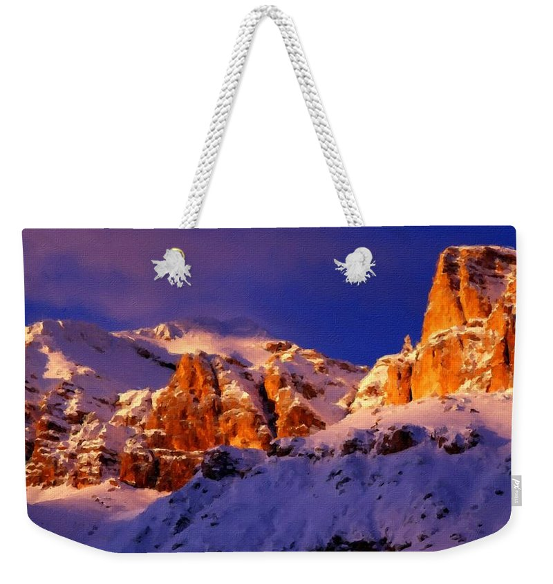 Painting Weekender Tote Bag featuring the digital art Landscape Of by Usa Map