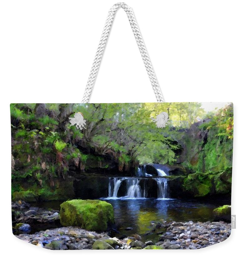 S Weekender Tote Bag featuring the digital art Paintings Of Landscapes by Usa Map