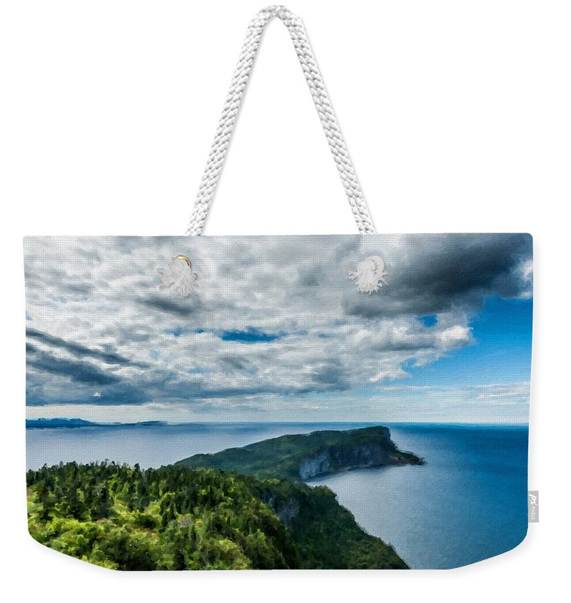 Great Weekender Tote Bag featuring the digital art Pictures Of Landscape by Usa Map