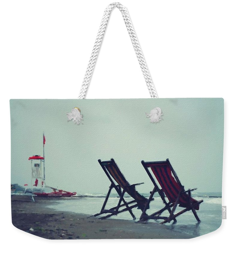 P Weekender Tote Bag featuring the digital art Scenery Oil Paintings On Canvas by Usa Map