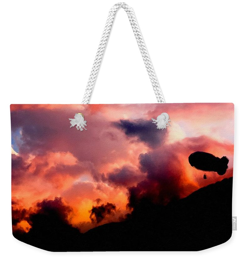 C Weekender Tote Bag featuring the digital art Art Of Landscape by Usa Map