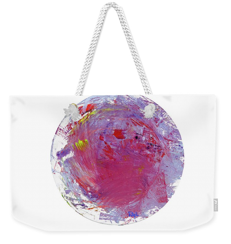 Weekender Tote Bag featuring the painting 43 by Ferboligali