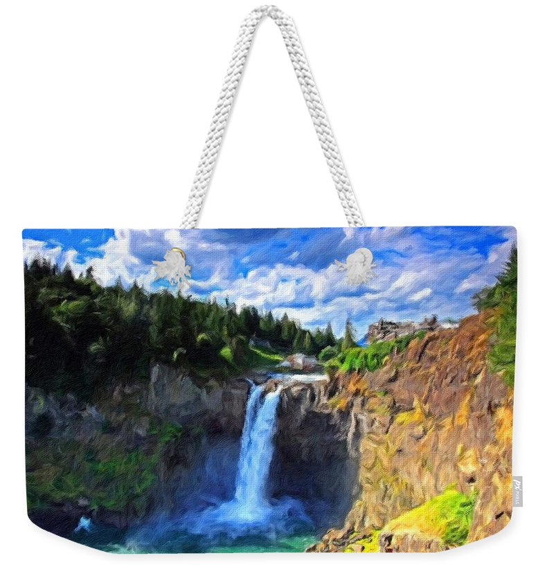 Landscape Weekender Tote Bag featuring the digital art P G Landscape by Usa Map