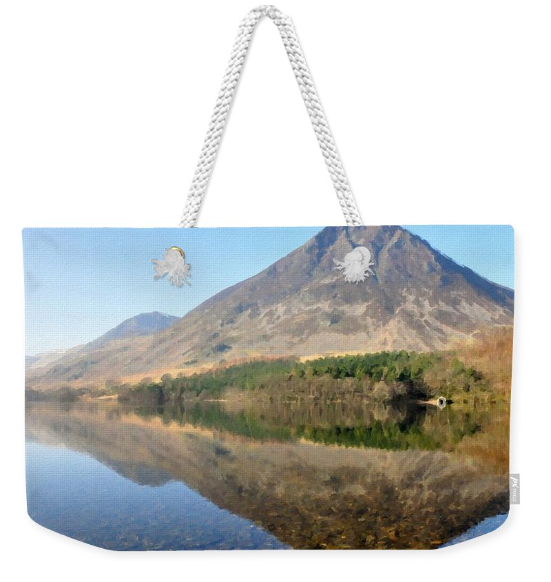 Landscape Weekender Tote Bag featuring the digital art Landscape Painting Art by Usa Map