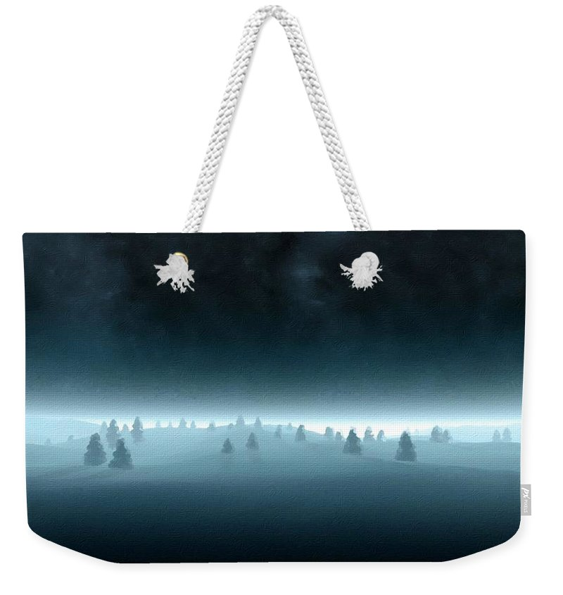 Landscape Weekender Tote Bag featuring the digital art Nature By by Usa Map