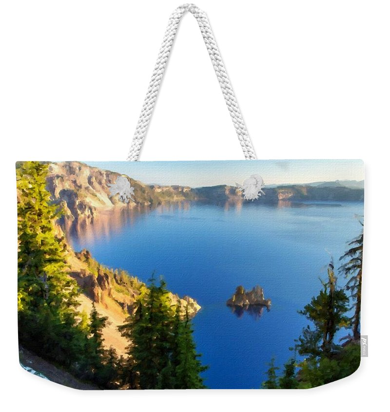 In Weekender Tote Bag featuring the digital art The Nature by Usa Map