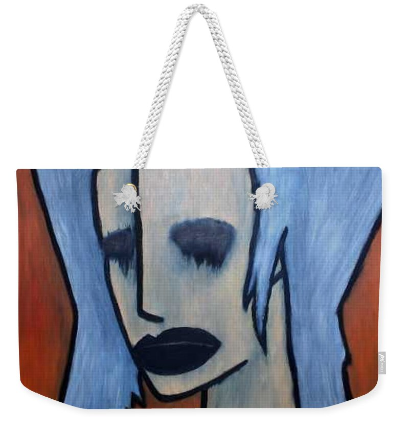 Potrait Weekender Tote Bag featuring the painting Halloween by Thomas Valentine