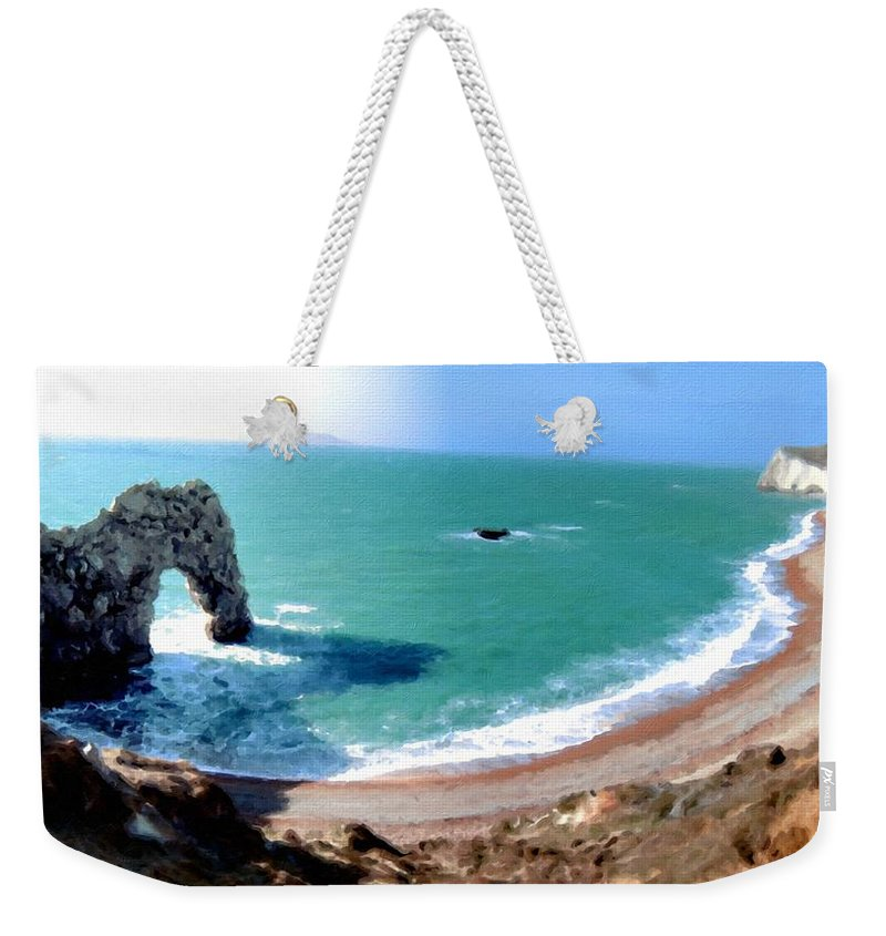 Landscape Weekender Tote Bag featuring the digital art 9 Landscape by Usa Map