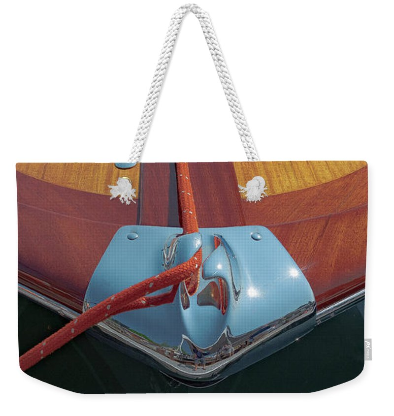 H2omark Weekender Tote Bag featuring the photograph Classic Riva by Steven Lapkin