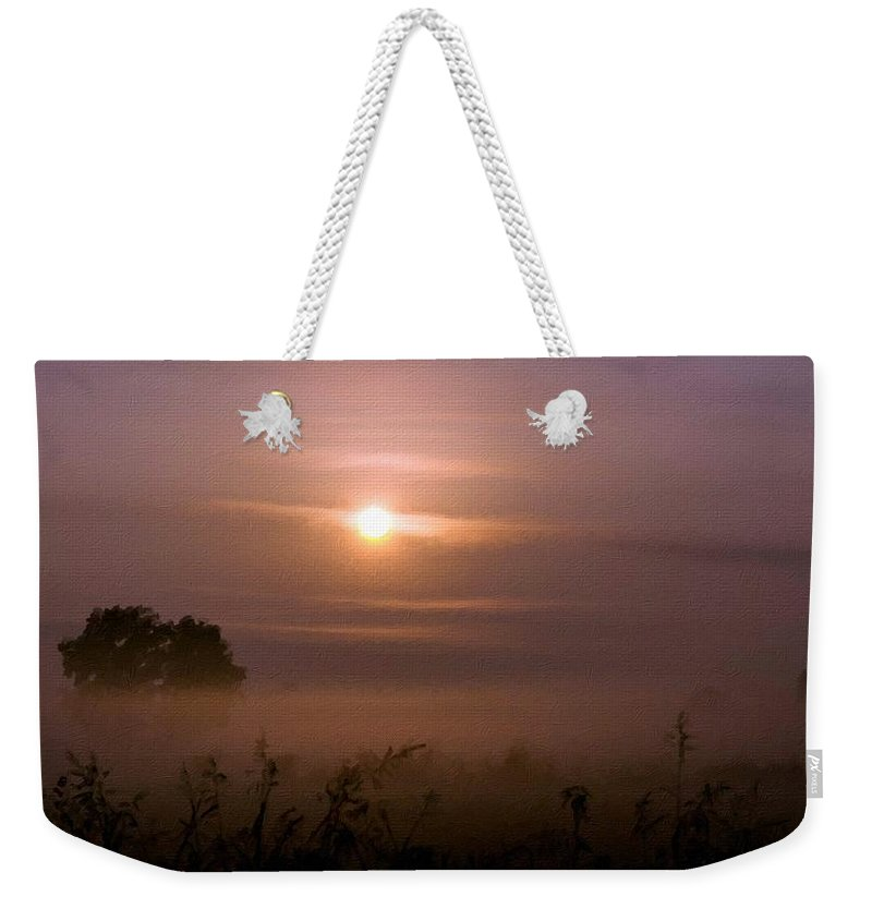 P Weekender Tote Bag featuring the digital art Landscape Luminous by Usa Map