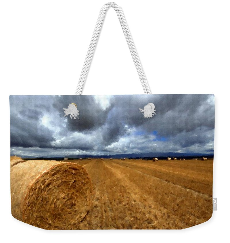 Oil Weekender Tote Bag featuring the digital art Nature Drawing by Usa Map