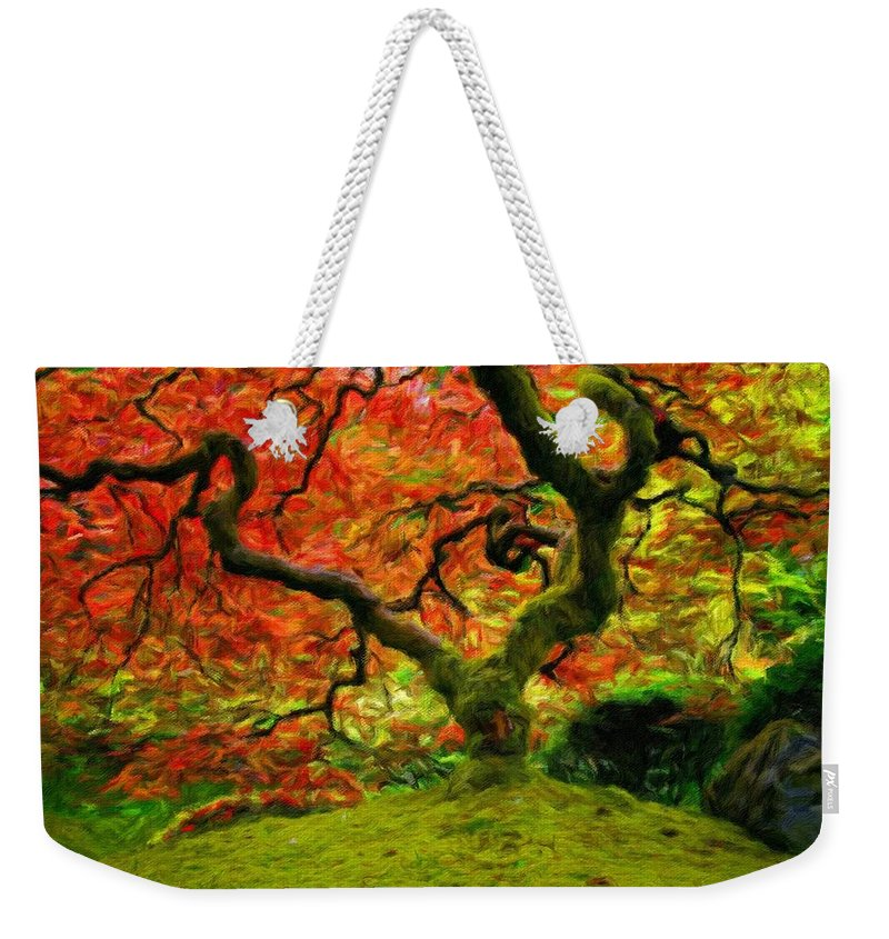 Art Weekender Tote Bag featuring the digital art Art Of Landscape by Usa Map