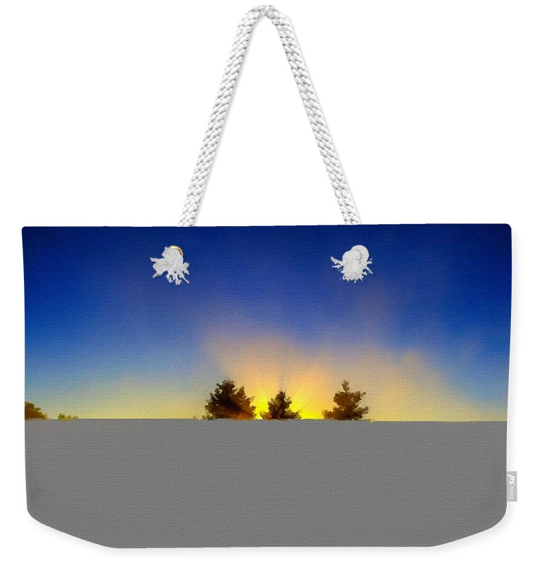Nature Weekender Tote Bag featuring the digital art Walls Landscape by Usa Map