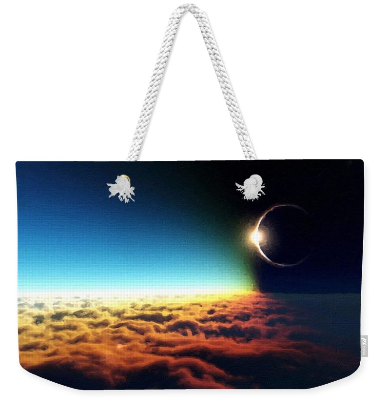 Framed Weekender Tote Bag featuring the digital art C R Landscape by Usa Map