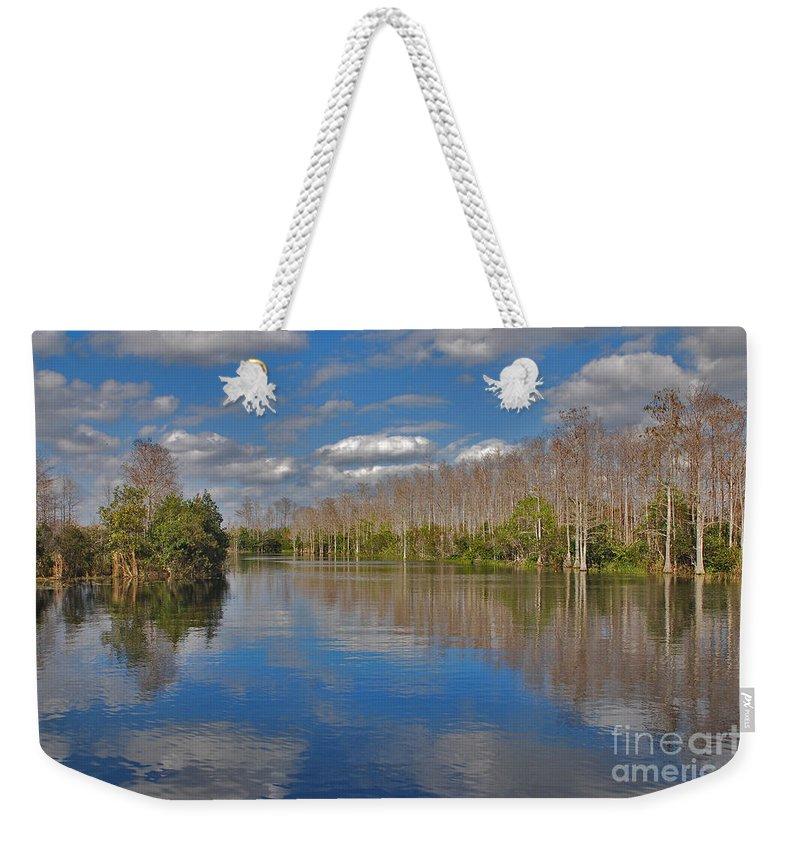 Grassy Waters Preserve Weekender Tote Bag featuring the photograph 47- Everglades Serenity by Joseph Keane