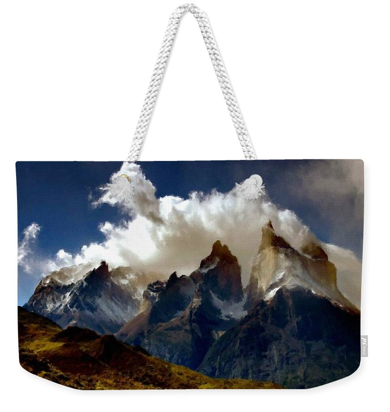 Plan Weekender Tote Bag featuring the digital art Landscape Fine Art by Usa Map