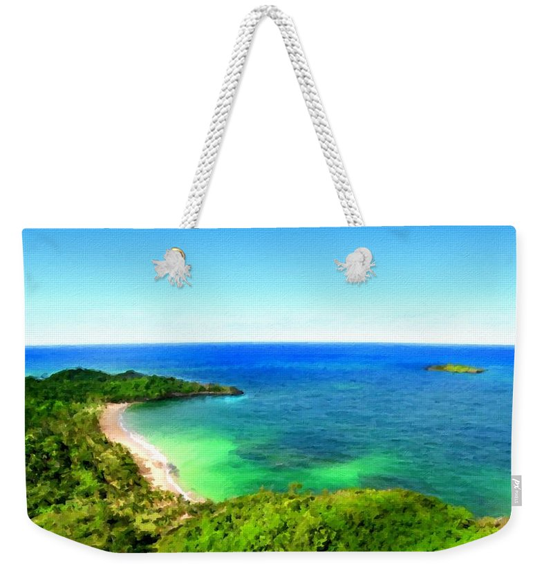 Art Weekender Tote Bag featuring the digital art Landscape Lighting by Usa Map