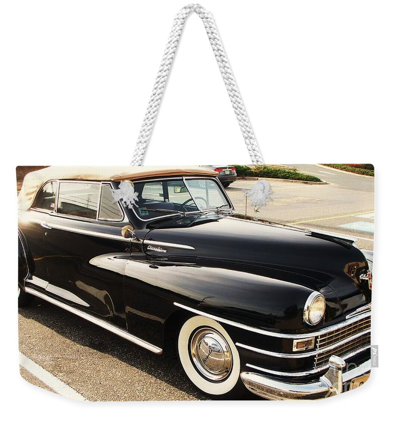 Automobile Weekender Tote Bag featuring the painting 47 Packard by Eric Schiabor