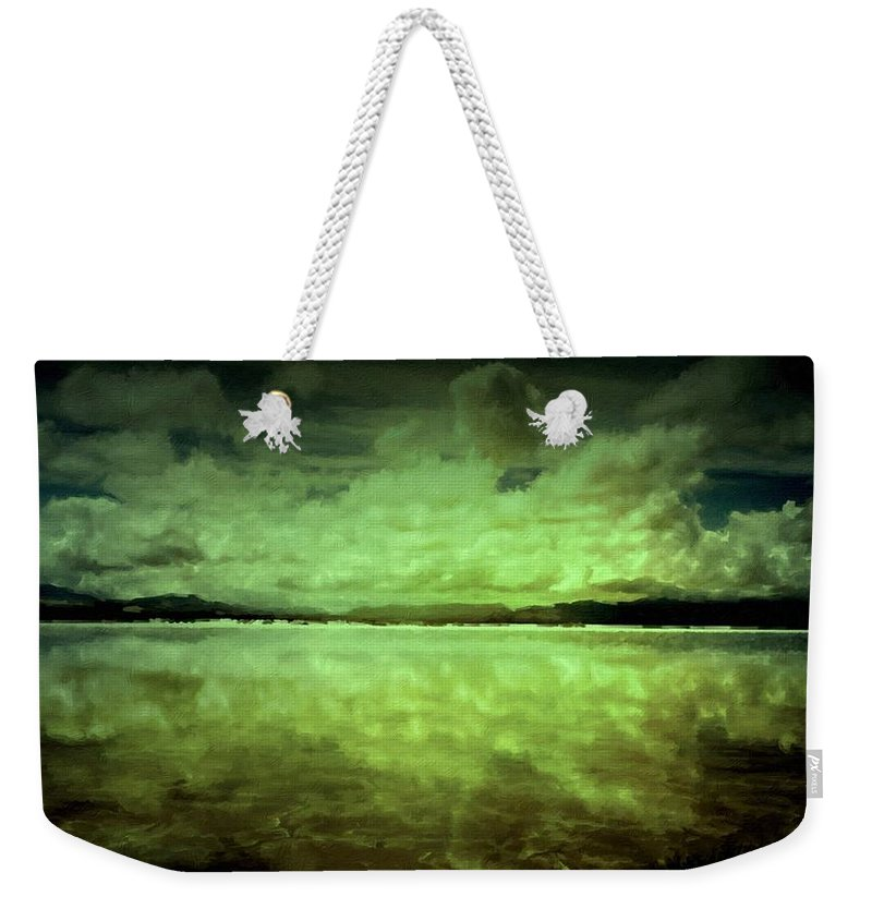 A Weekender Tote Bag featuring the digital art Painting Landscape by Usa Map
