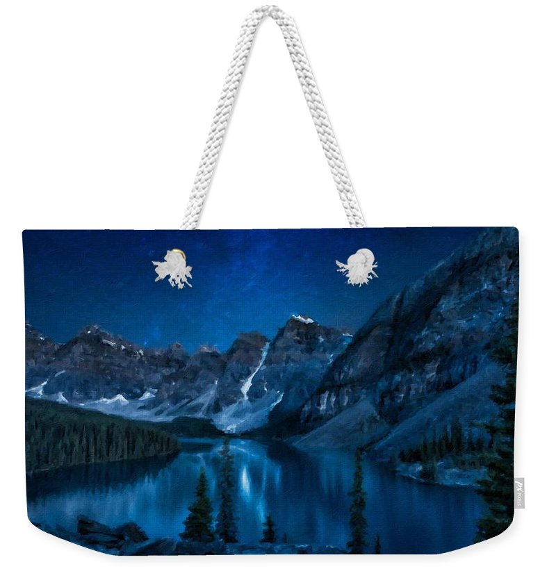 Landscape Weekender Tote Bag featuring the digital art Print Landscape by Usa Map