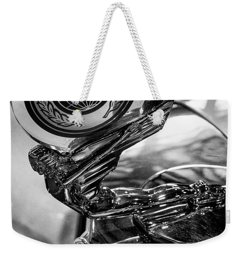 Goodguy's Weekender Tote Bag featuring the photograph 47 Triumph Roadster by Guy Shultz