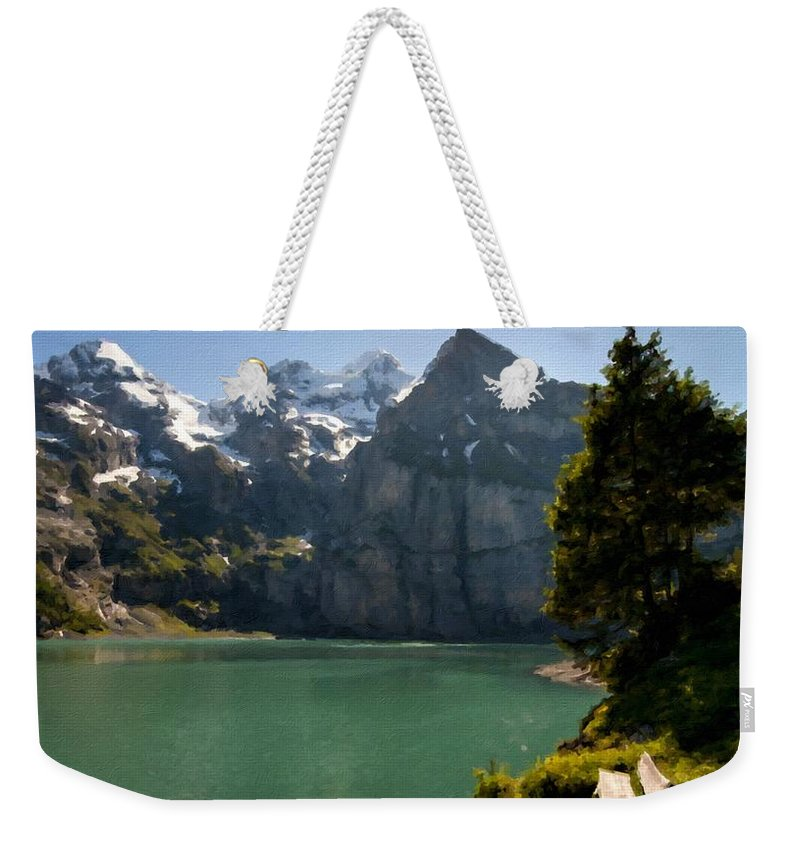Art Weekender Tote Bag featuring the digital art Art Landscapes by Usa Map