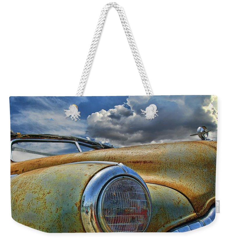 Old Car Weekender Tote Bag featuring the photograph 48 Buick by Nick Roberts