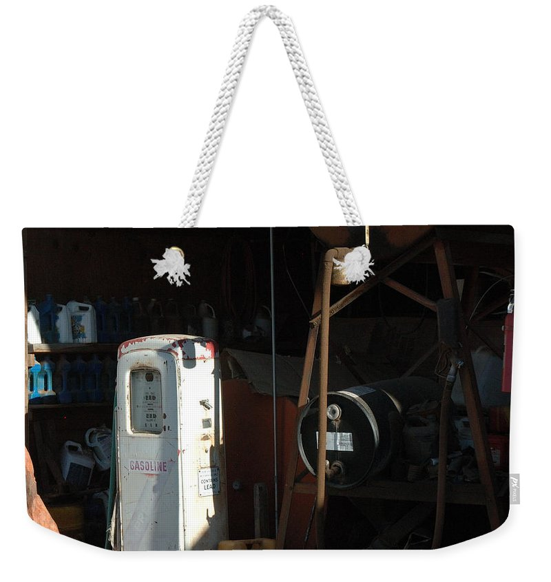 Gas Weekender Tote Bag featuring the photograph 48 Cents Per Gallon by Jerry McElroy